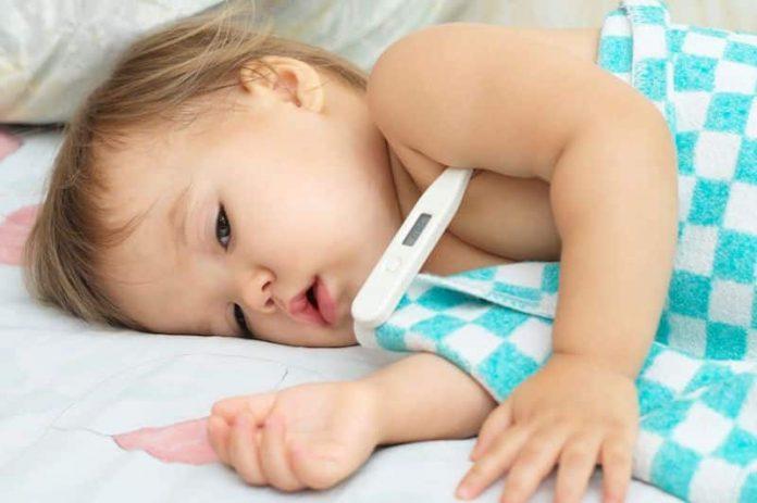 La fièvre chez l'enfant est souvent le signe d'une infection