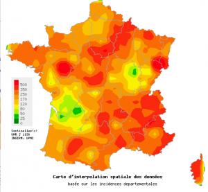 Moins de cas de grippe en France