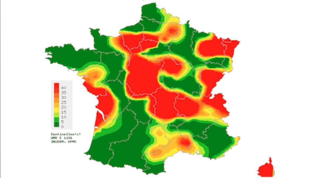 La varicelle donne des boutons à la France