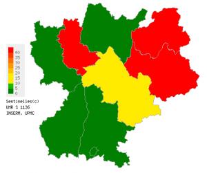 La région de Lyon demeure au cœur de l'épidémie de varicelle