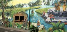 Une peinture géante sur le mur de l'hôpital des Charpennes