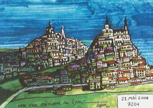 Une vue de Lyon en rêve exposée aux Atchives.