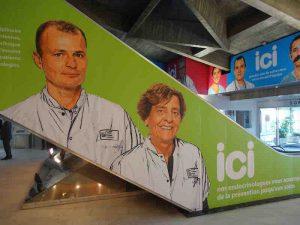 Médecins, chirurgiens et infirmières s'affichent durant les travaux à Louis Cardio de Lyon
