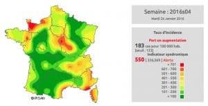 La grippe arrive en France