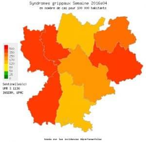 La grippe s'installe en Rhône-Alpes