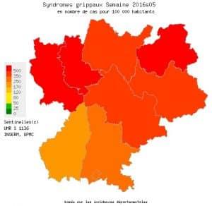 Le Rhône, la Loire et la Haute-Savoie sont les départements où l'épidémie de grippe est la plus virulente.