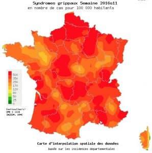 21 des 22 régions françaises au dessus du seuil épidémique