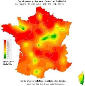 Le virus de la grippe est toujours bien présent en France