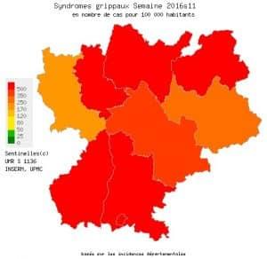 La grippe fait toujours rage en Rhône-Alpes