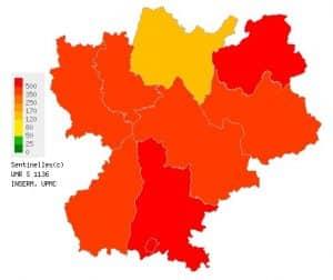 Le virus de la grippe recule en Rhône-Alpes