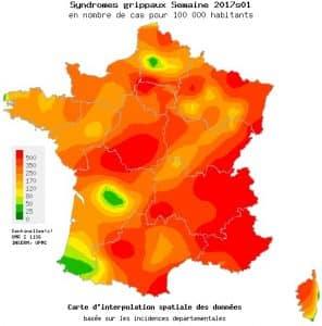 La France a la fièvre de la grippe...