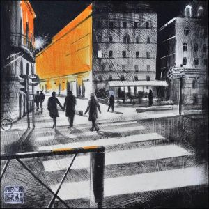 Tableau exposé aux 111 des Arts à Lyon