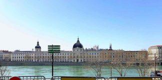 Lyon berges du Rhône fermées pour cause de coronavirus