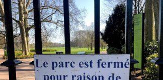 Parc tête d'Or Lyon fermé à cause du Coronavirus