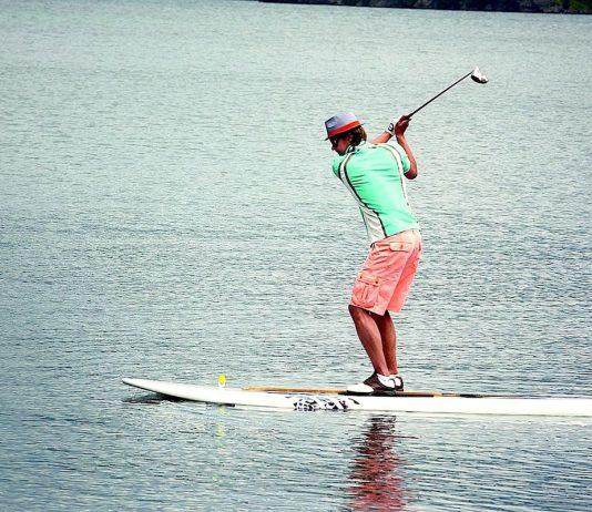 reprise du sport golf planche à voile