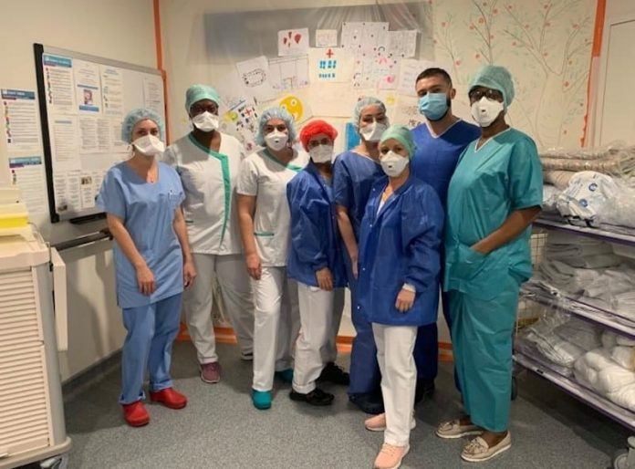 Équipe de soignants de la clinique du Val d'Ouest
