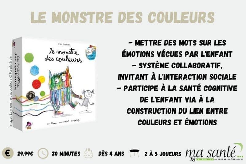 Jeux de sociétés : Le monstre des couleurs - Ma Santé