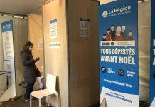 Opération tous dépistés avant Noël : le centre de dépistage de Lyon Bellecour.