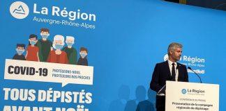 Présentation de la campagne de dépistage massif en Auvergne-Rhône-Alpes.