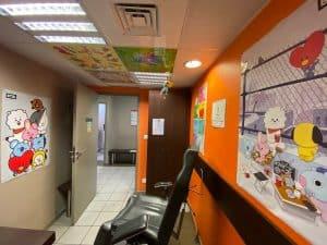Salle de prélèvement décorée par Jepikoo