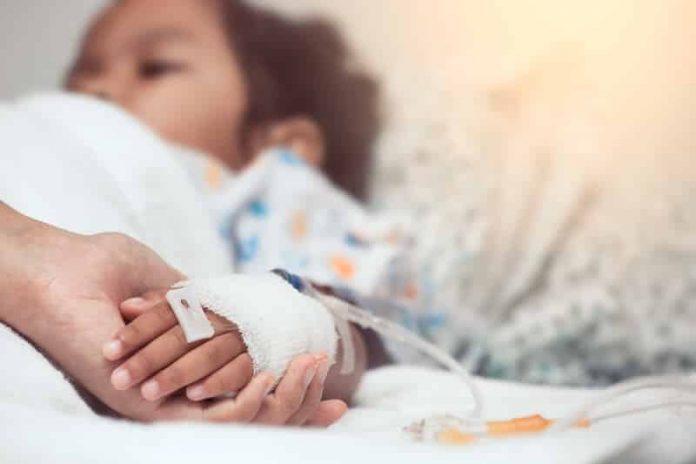 Enfant malade du cancer.