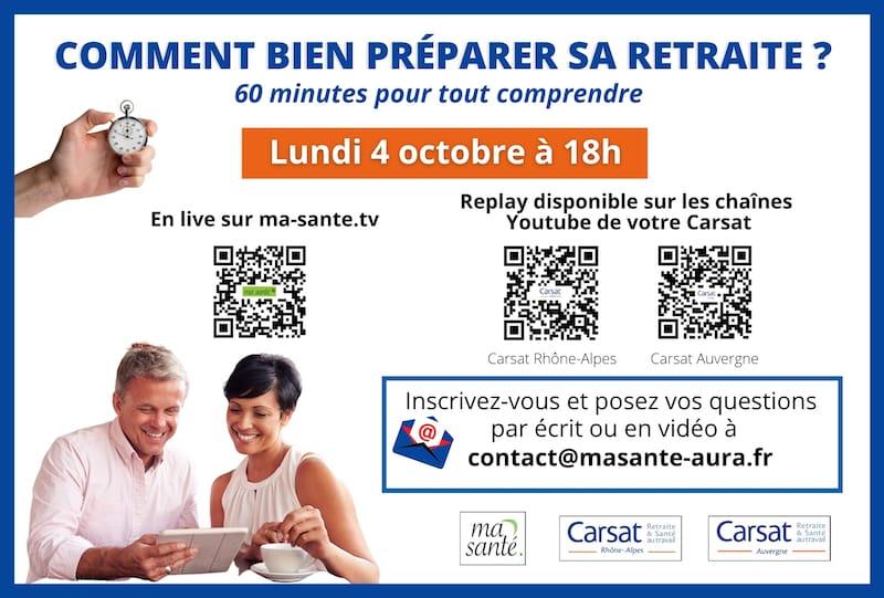 Pub mag 13 webinaire Carsat Ma Santé retraites.